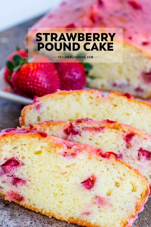 Strawberry Pound Cake Pinterest Friendly Image