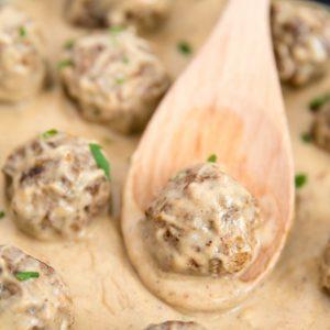 A close up of Meatballs