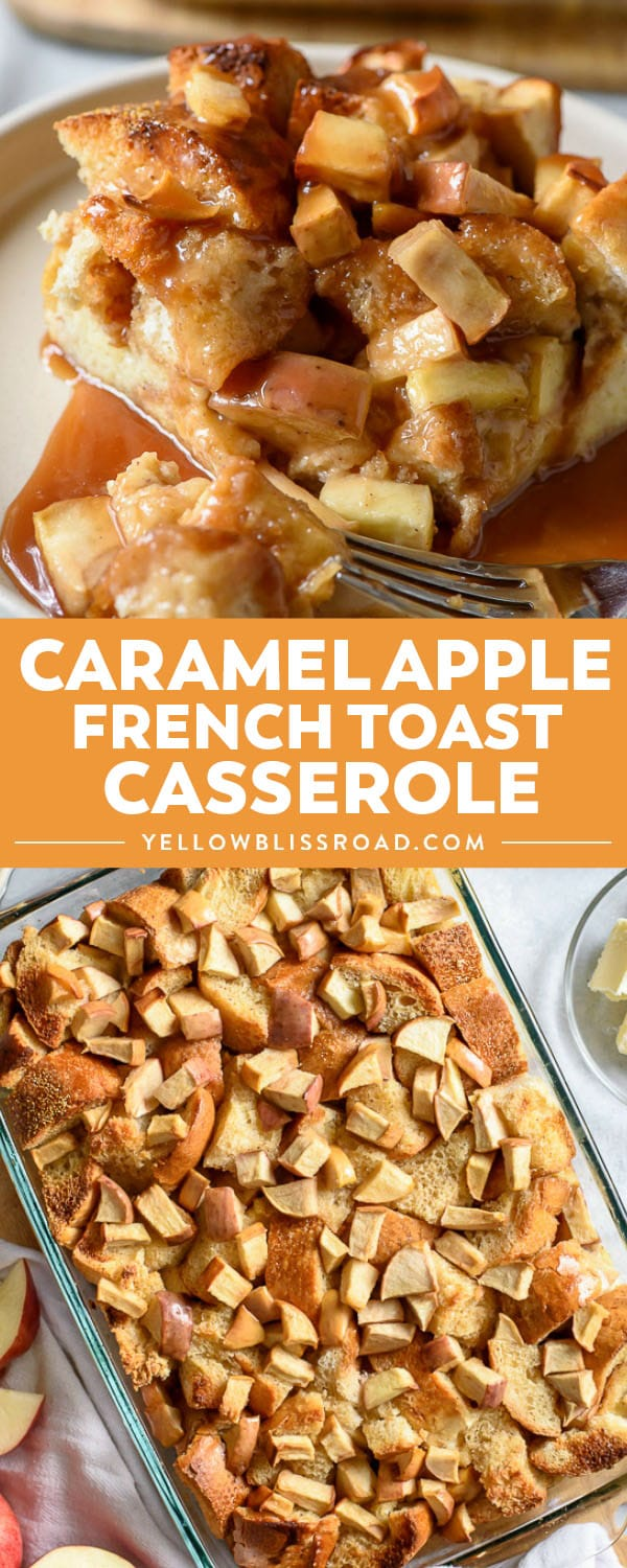 Perfect for fall, Caramel Apple French Toast Casserole literally brings delicious to the table! Sweet, tender & full of caramel-bathed apples, it's big enough to feed a crowd and can be made the night before for an easy morning!