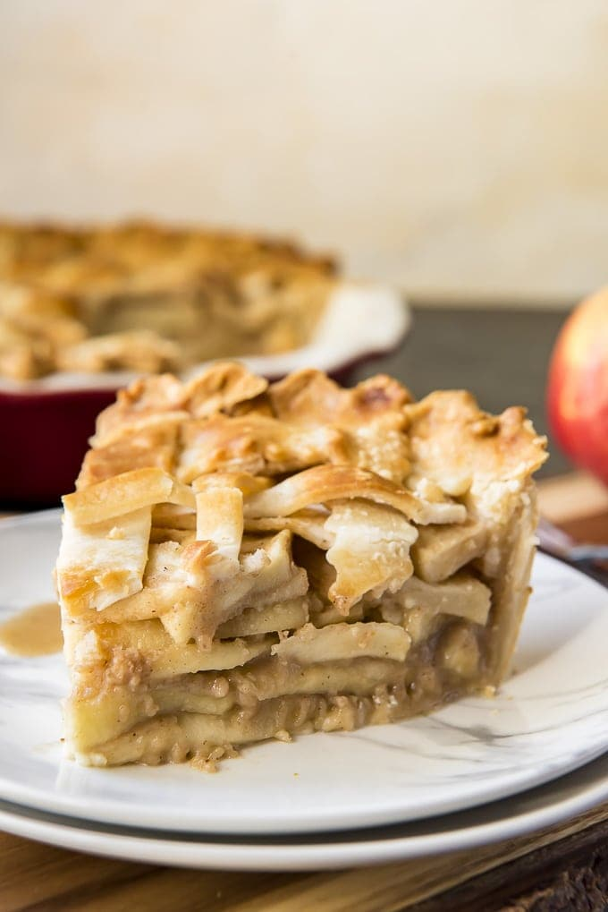 Classic Apple Pie slice on a plate