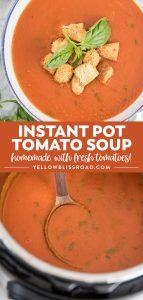 Social media image of Instant Pot Tomato Soup