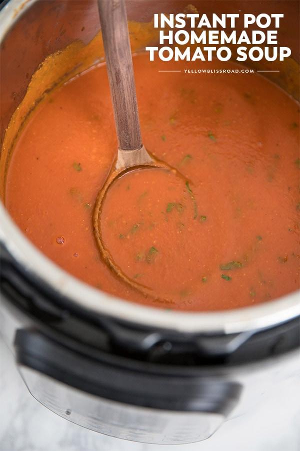 A close up of Tomato Soup