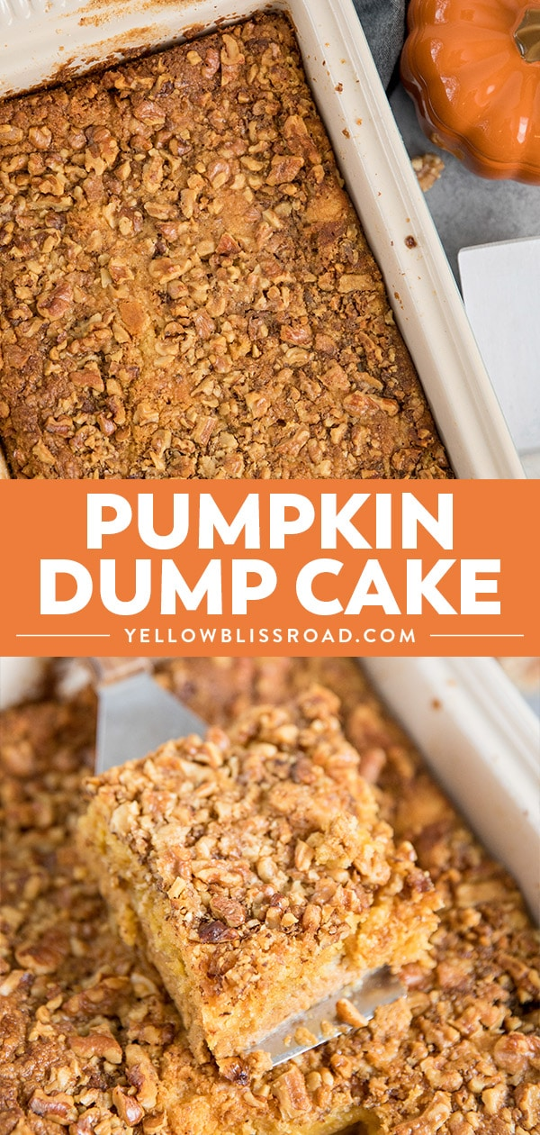pumpkin dump cake collage