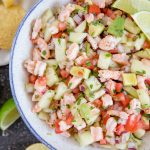 A bowl of Shrimp Ceviche