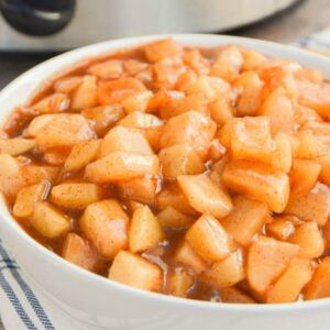 A bowl of Apple Pie filling