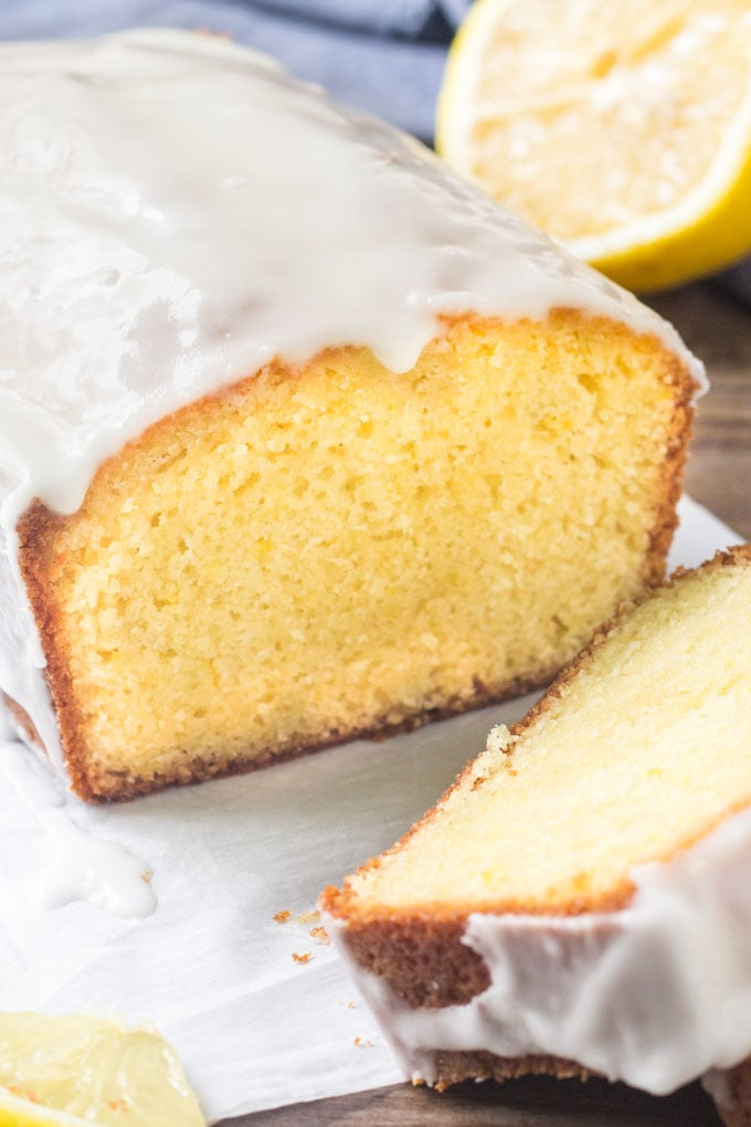 Starbucks copycat lemon loaf with sweet lemon glaze.