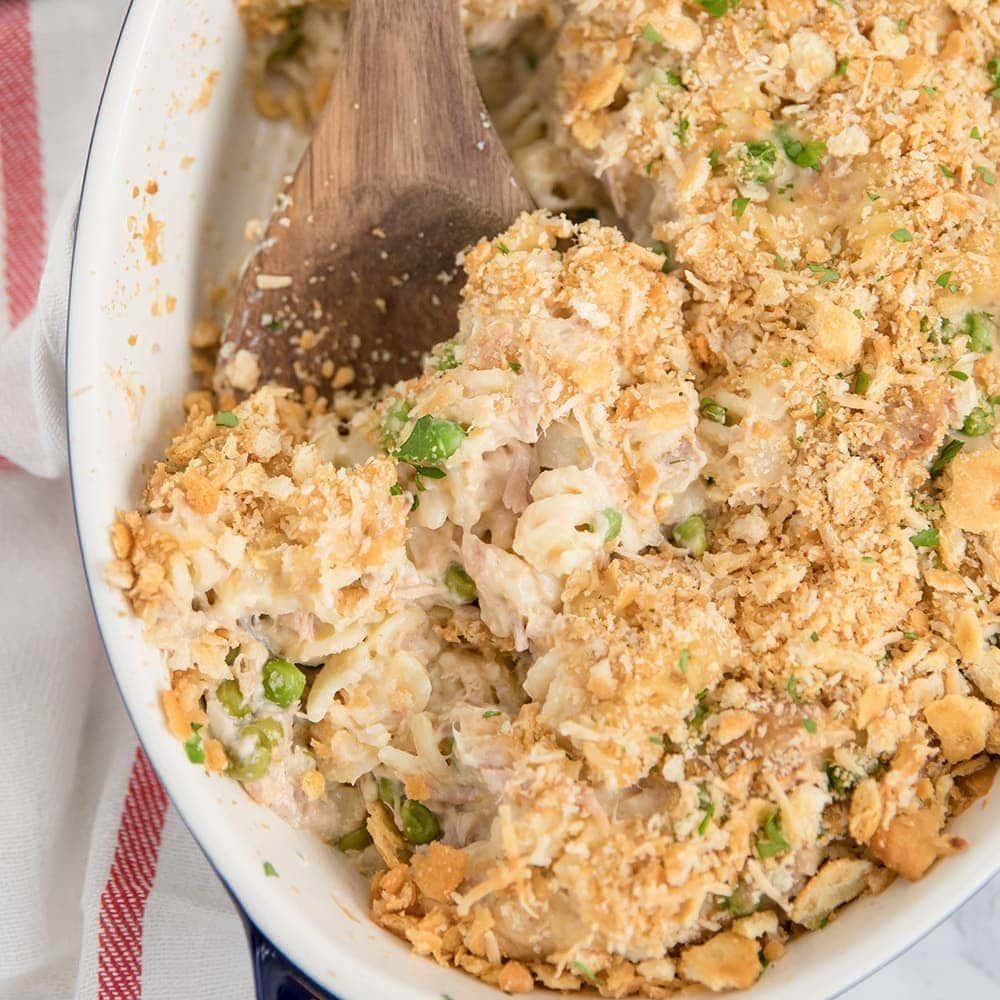 A plate of Tuna Casserole