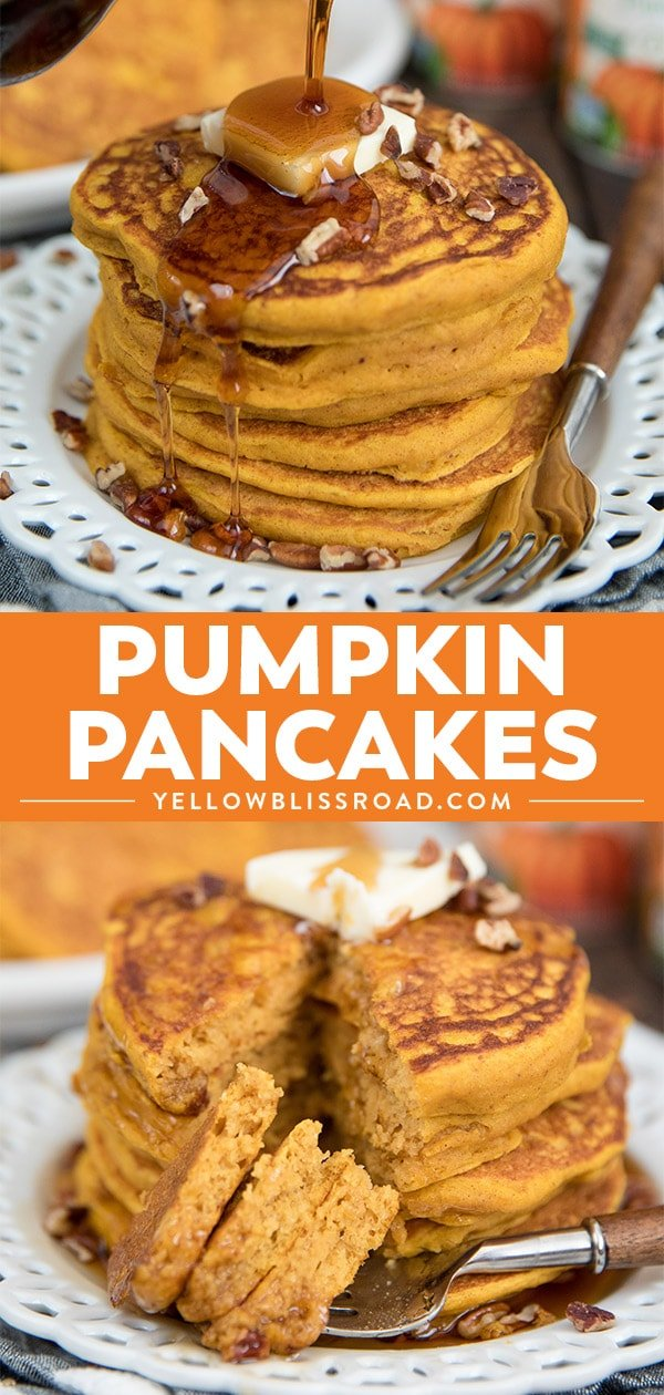 Pumpkin Pancakes collage