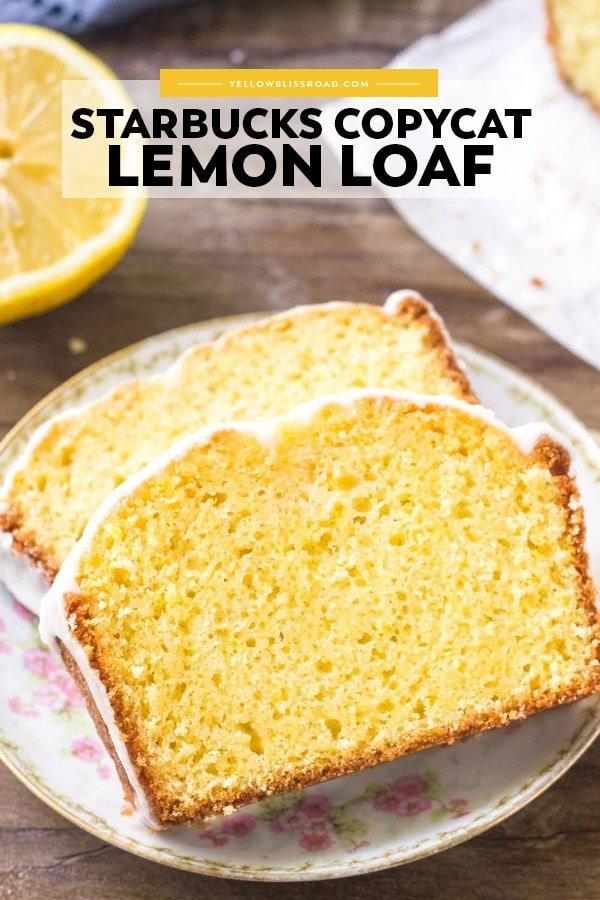 If you love the lemon desserts - then you need to try this Starbucks Copycat Lemon Loaf! It's buttery, moist, bursting with #lemon flavor, and topped with sweet lemon glaze!
