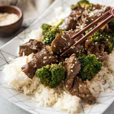 A plate of Beef and Broccoli
