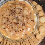 A bowl of Caramel Apple Cheesecake Dip