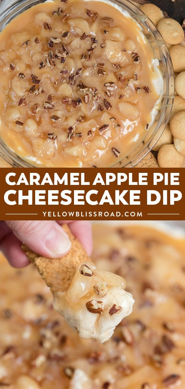 Caramel Apple Pie No Bake Cheesecake Dip