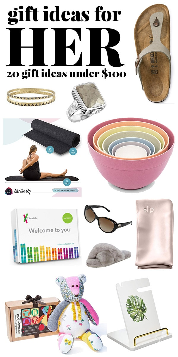 Gift ideas for Her under $100.