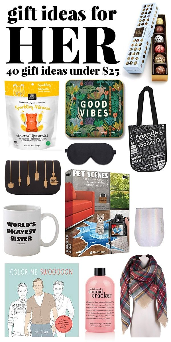 Christmas gift ideas for her under $25 - Christmas Gift Ideas For Her (Gifts For Women) YellowBlissRoad.com