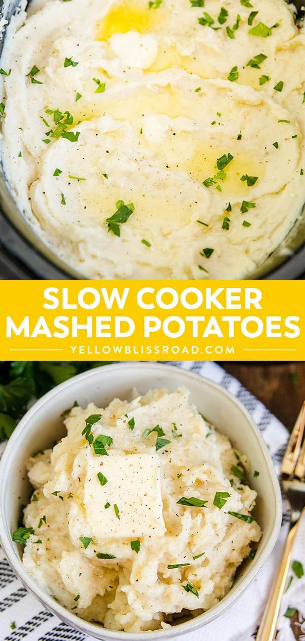Crock Pot Mashed Potatoes | Slow Cooker Mashed Potatoes
