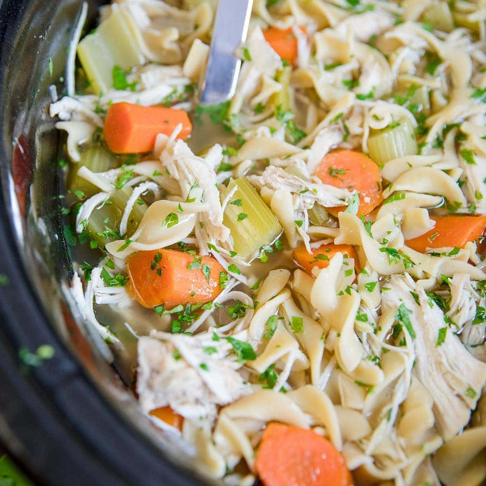 Easy Crockpot Chicken Noodle Soup Recipe