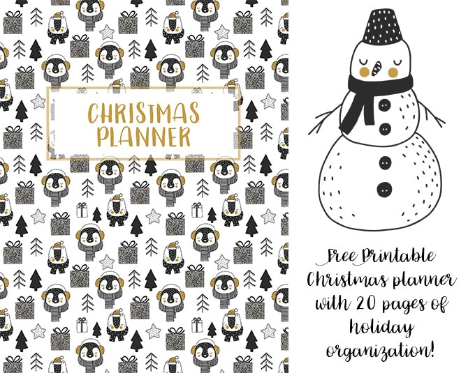 Christmas Printable Planner cover