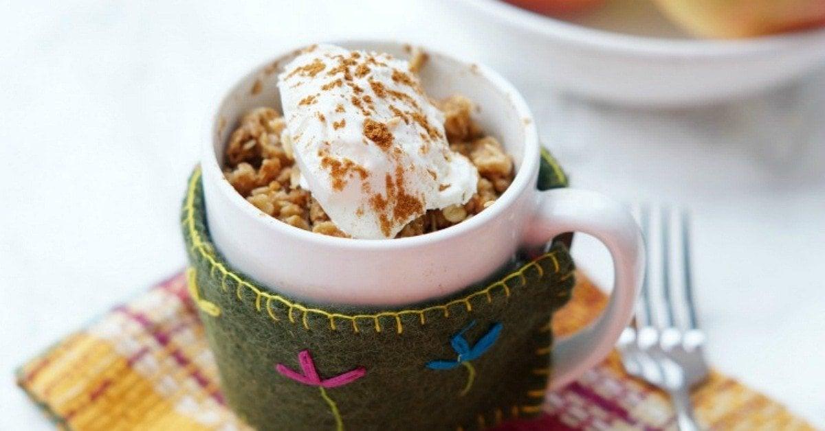 Easy Microwave Apple Crisp In A Mug Yellowblissroad Com
