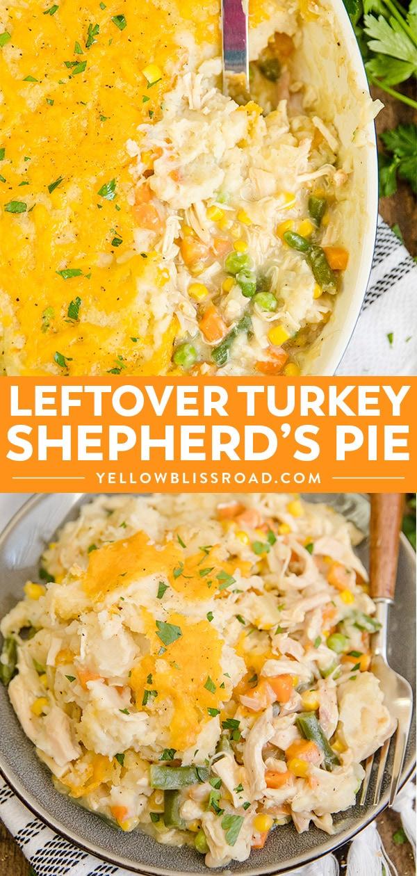 Turkey Shepherd's Pie collage.