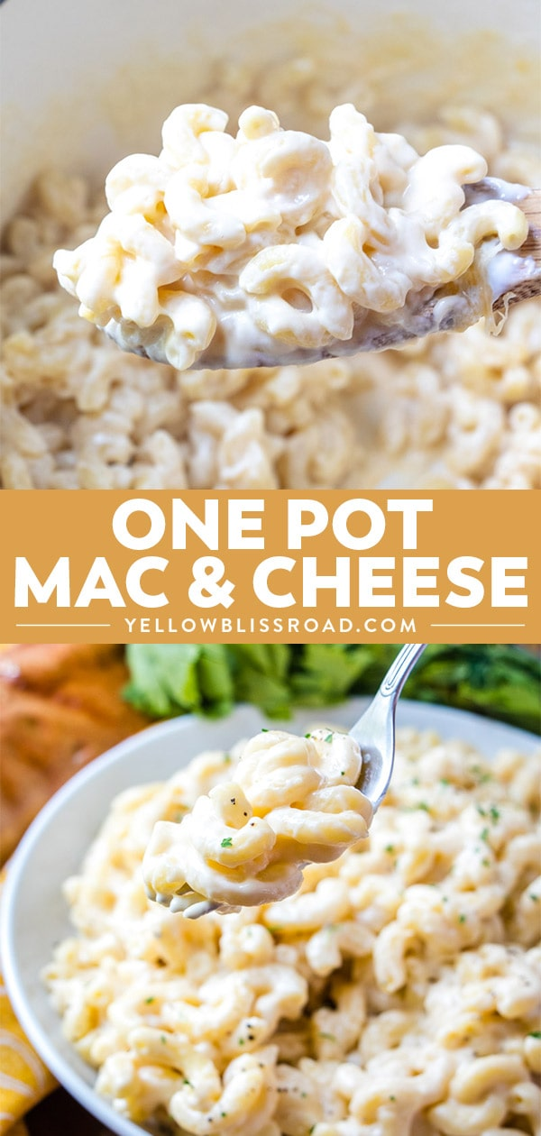 One Pot Mac and Cheese collage