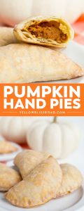 Pumpkin Hand Pies are an amazing fall dessert! Each pie is stuffed with a pumpkin pie filling, baked to perfection, then dipped in maple cinnamon glaze!