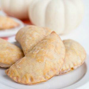 A plate of pumpkin hand pies