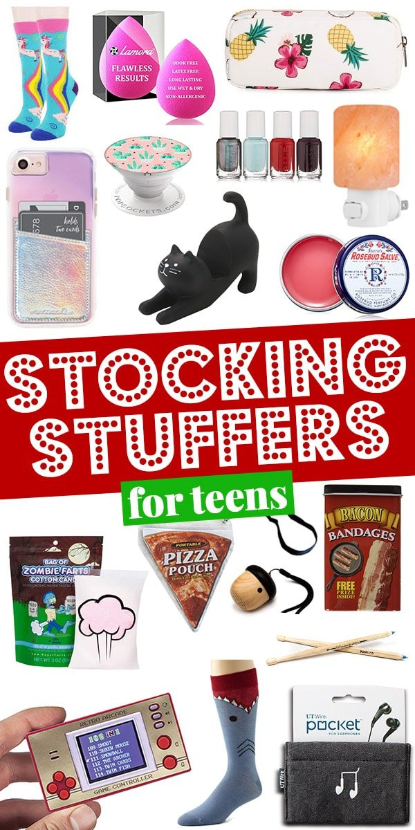 Stocking stuffer ideas for teens | Stocking stuffers for teens.