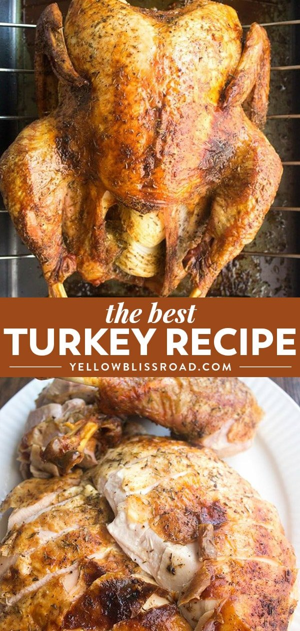 How to cook a turkey - best Thanksgiving turkey recipe collage