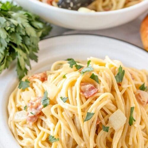 Authentic Pasta Carbonara Recipe Yellowblissroad Com