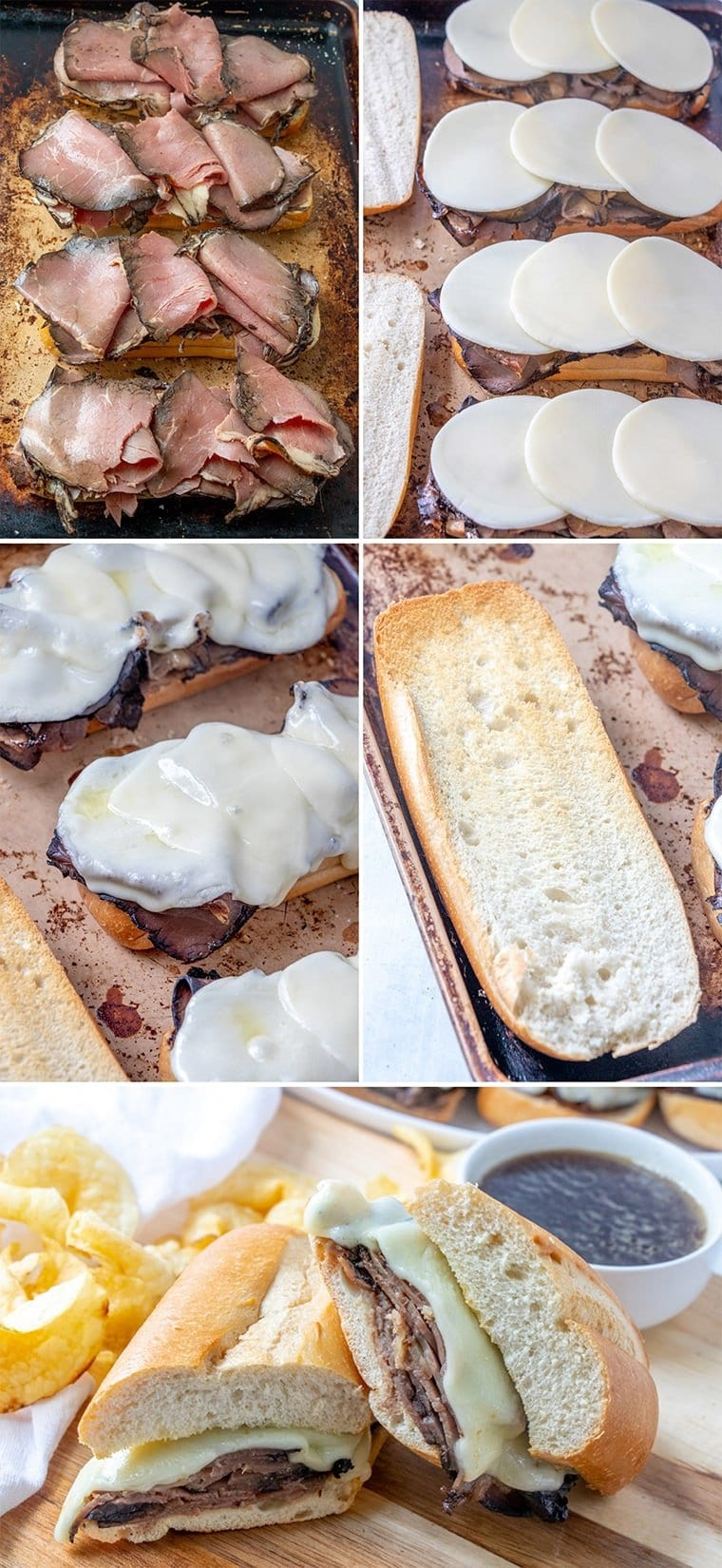 Easy Baked French Dip Sandwich Recipe | YellowBlissRoad.com