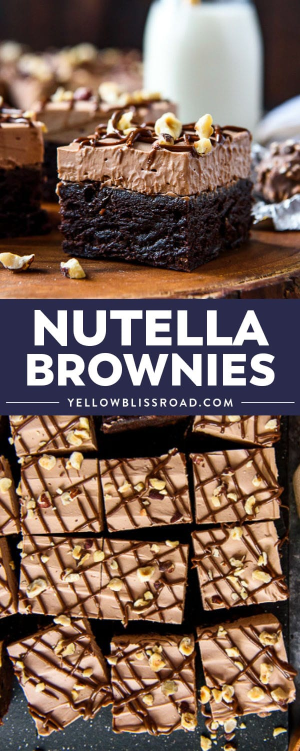 Nutella Brownies are absolutely irresistible! With a thick layer of fluffy chocolate-hazelnut cheesecake mousse, you're gonna need a fork for these babies!