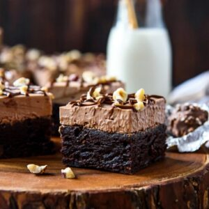 Nutella brownies on a table
