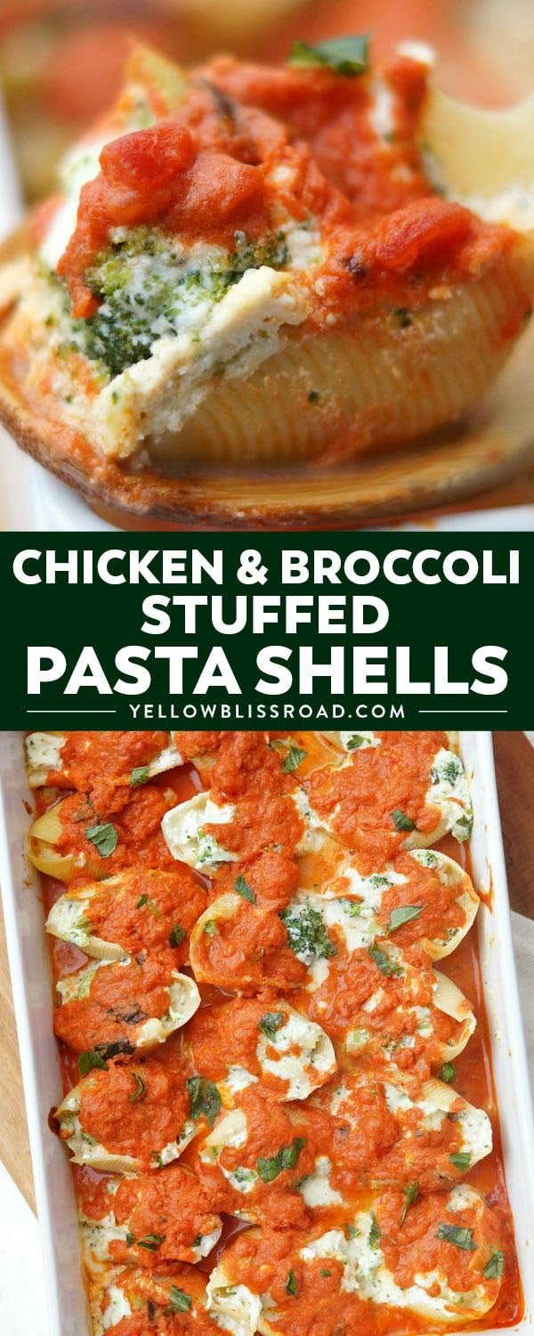 These delicious Chicken and Broccoli Stuffed Shells are an impressively simple comfort food recipe! If you love stuffed pasta recipes, then you will love this hearty variation!