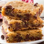 A plate of Chocolate Chip Cookie Bars