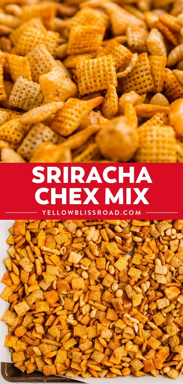 Sriracha Chex Mix (Homemade Chex Mix) collage
