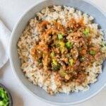 Social media image of Teriyaki Turkey Rice Bowls