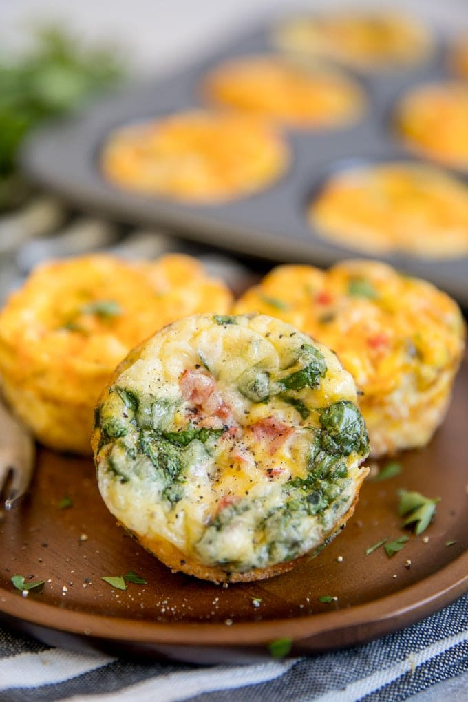 A plate of baked Egg Muffins