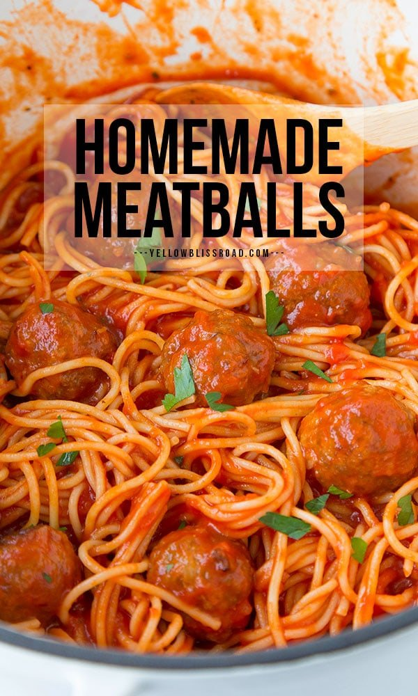 Homemade Meatball Recipe pinterest friendly pin