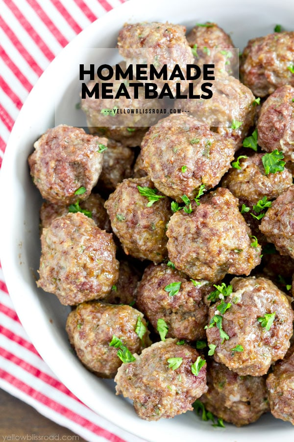 Easy homemade meatball recipe pinterest friendly pin