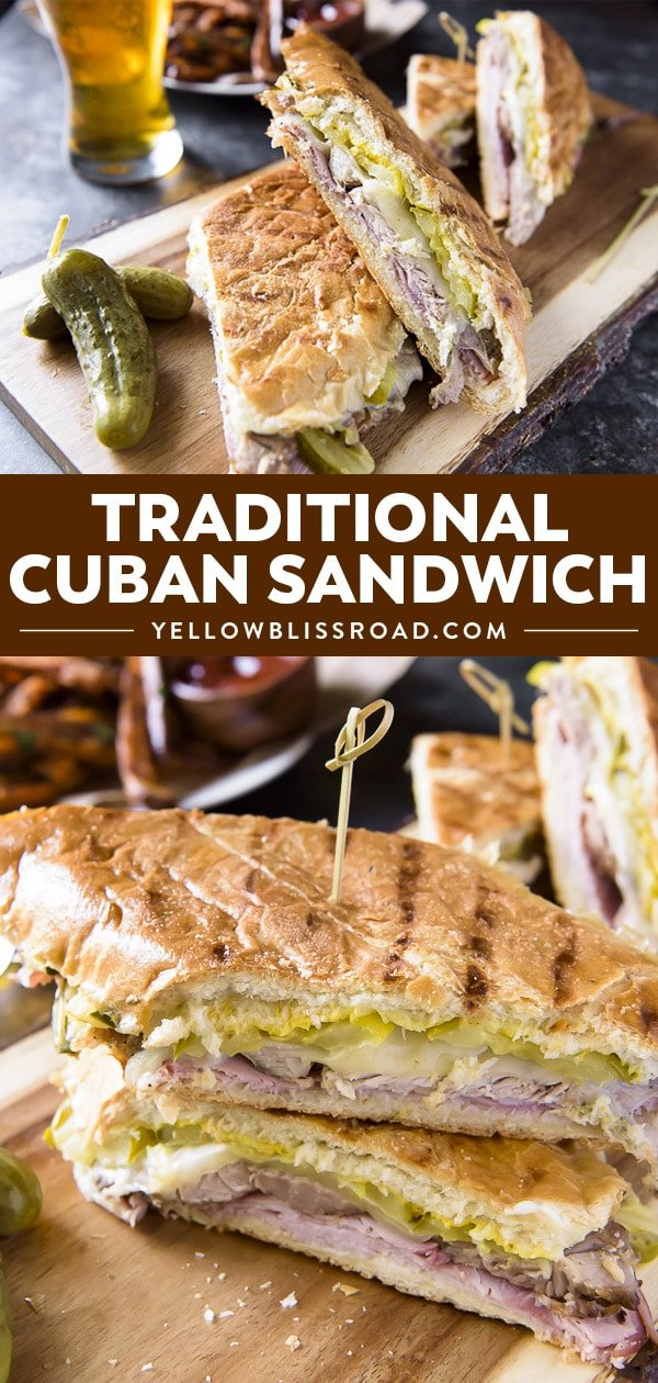 Traditional Cuban Sandwich photo collage