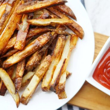 A plate of fries