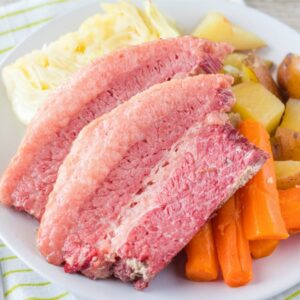 There's nothing I love better on St. Patrick's Day than a big platter filled with my favorite Corned Beef and Cabbage Recipe!