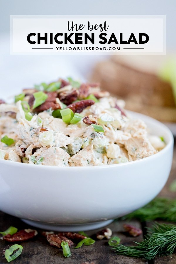 Easy Chicken Salad Recipe Yellowblissroad Com
