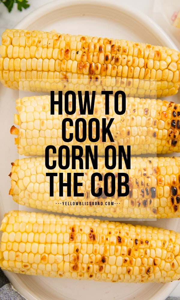 How to cook corn on the cob pinterest friendly image