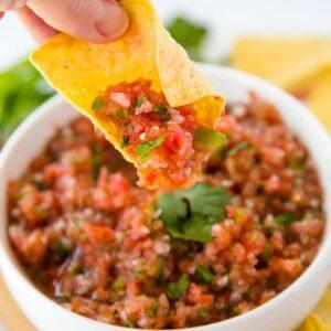 A bowl of Salsa