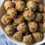 Plate full of meatballs