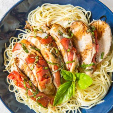 Social media image of chicken parmesan and pasta