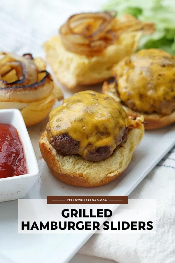 Grilled hamburger sliders pinterest friendly image