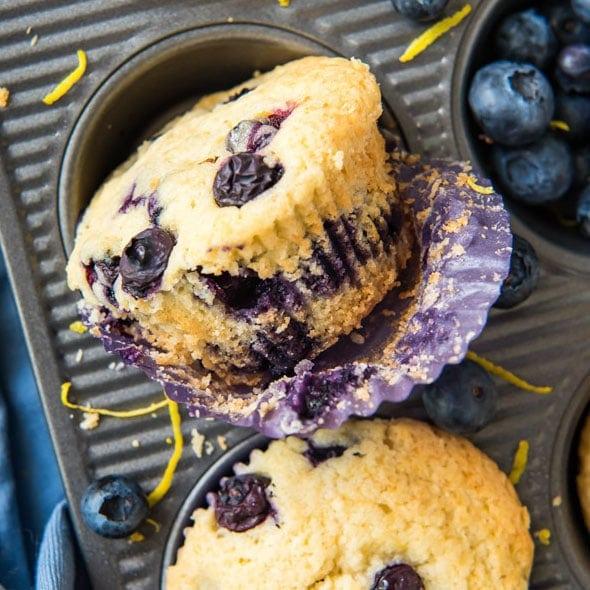 Social media image of Blueberry Lemon Muffins