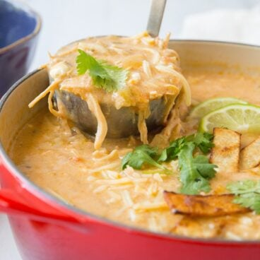 Enchilada chicken soup social media image